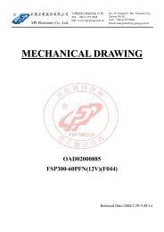 MECHANICAL DRAWING OAD02000885 FSP300-60PFN(12V)(F044)