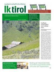 2 landwIrtschaftlIche Blätter aktuelles - Agrarnet Austria