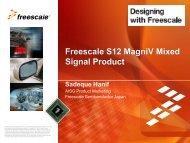Power Architecture®, i.MX (ARM), S12, S08 - Freescale