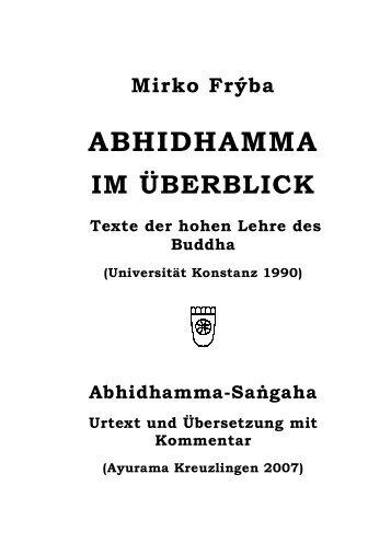 5. Texte der Abhidhamma-Literatur