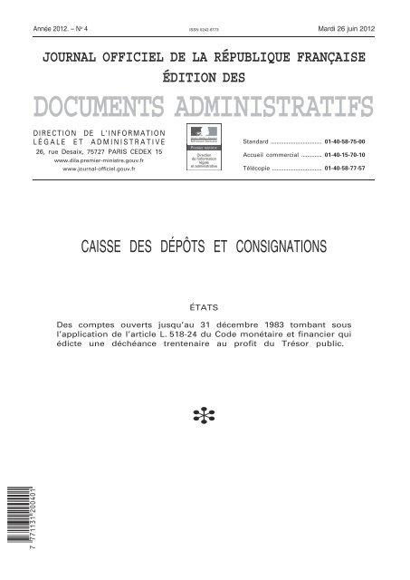 Journal Officiel De La République Française édition Des