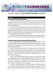 Position Papers of GA Third Committee (SOCHUM)
