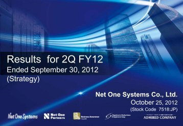Results for 2Q FY12