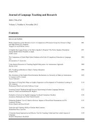 Journal of Language Teaching and Research - Academy Publisher