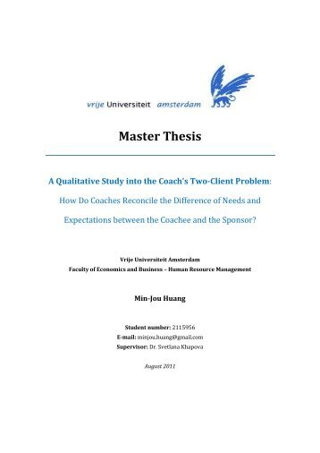 master thesis qualitative research