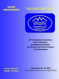 Second Announcement migration 2011