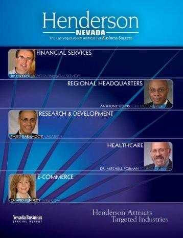 Nevada Business Journal Henderson Supplement - City of ...