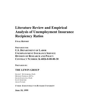 Literature Review and Empirical Analysis of ... - ETA Advisories
