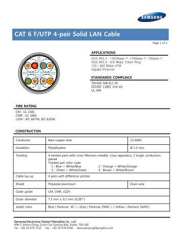 CAT 6 F/UTP 4-pair Solid LAN Cable