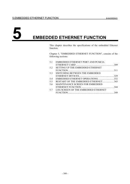 Fanuc 0i-D Ethernet Settings