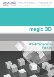 magic 3D dreidimensionale Welten - newmagic datensysteme GmbH