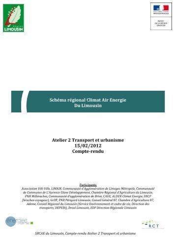 Schéma régional Climat Air Energie Du Limousin Atelier 2 Transport ...