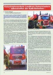 Jahrestreffen der KatS-Einheiten - Landkreis Kaiserslautern