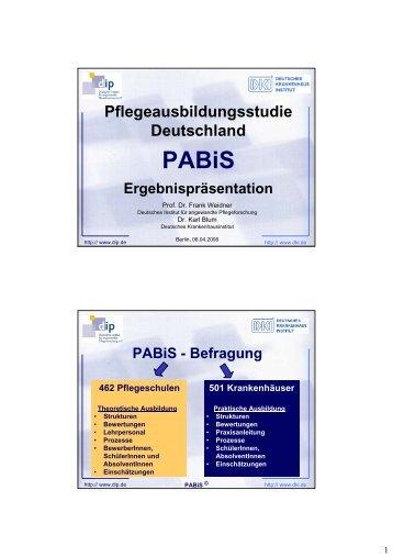 Pflegeausbildungsstudie Deutschland PABiS Ergebnispräsentation