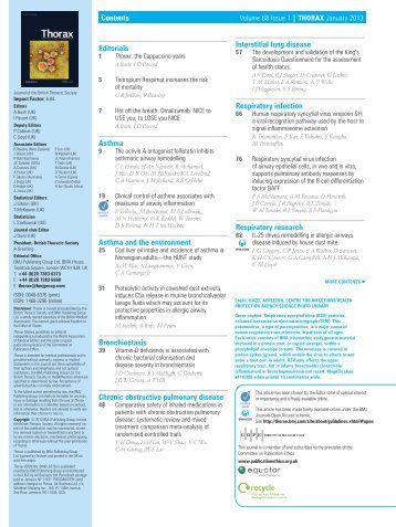 Table of contents PDF - Thorax - BMJ