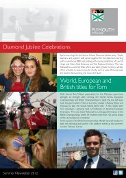 Senior School Summer Newsletter 2012 - Plymouth College