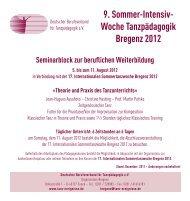 Woche Tanzpädagogik Bregenz 2012 - Deutscher Berufsverband ...