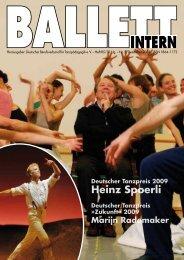 Heinz Spoerli - Deutscher Berufsverband für Tanzpädagogik