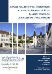 analyse de la brochure « information de l - tourisme association des ...
