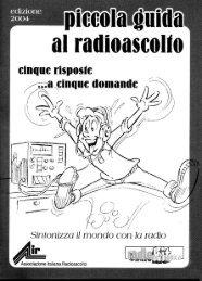 Piccola guida al radioascolto - Associazione Italiana Radioascolto