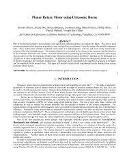 Planar Rotary Motor using Ultrasonic Horns - NASA Jet Propulsion ...