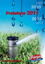 PARGA Preisliste 2011 - Parga Park