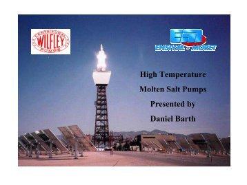 High Temperature Molten Salt Pumps - NREL
