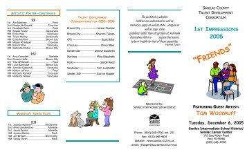 1st Impressions Brochure 2005 - Sanilac Intermediate School District