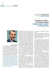 Handwerk in Halle – ein starker Partner Skilled trade in ... - Ebn24