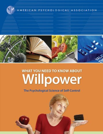 Willpower - American Psychological Association