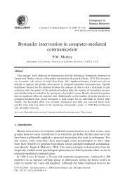Bystander intervention in computer-mediated communication