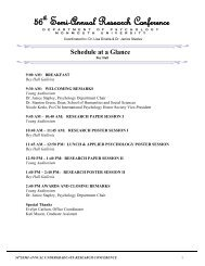 Schedule at a Glance - Monmouth University