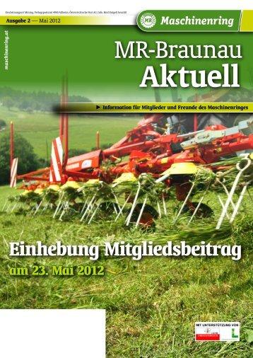 Einhebung Mitgliedsbeitrag am 23. Mai 2012 - Maschinenring