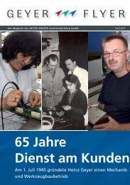 65 Jahre Dienst am Kunden - Geyer Gruppe