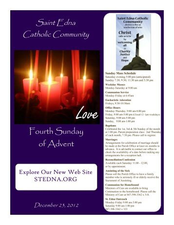 Fourth Sunday of Advent - St. Edna Catholic Church