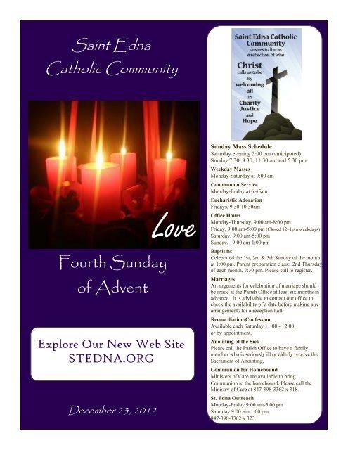 Fourth Sunday of Advent - St. Edna Catholic Church