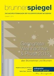 Brunner Spiegel Weihnachten 2012 - Österreichische Volkspartei ...