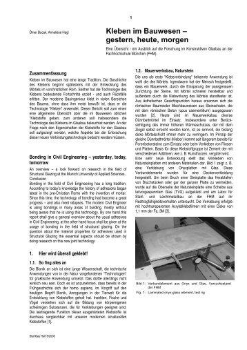 Kleben im Bauwesen - a-hagl-ingenieure