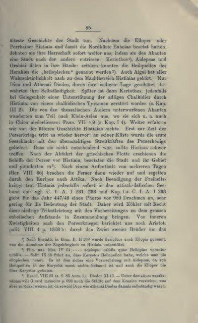 Topographie und Geschichte der Insel Euboia