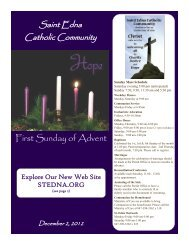 First Sunday of Advent - St. Edna Catholic Church
