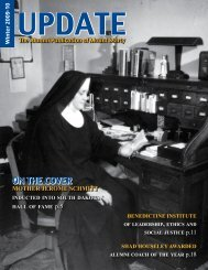 On ThE cOvEr - Mount Marty College