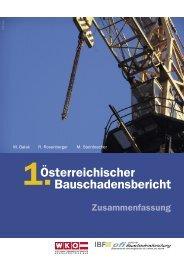 1. Österreichischer Bauschadensbericht (PDF) - Zusammenfassung