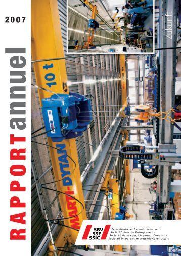 Rapport annuel | 2007 - Schweizerischer Baumeisterverband
