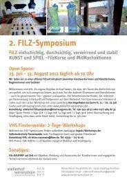 1. August 2012 von 10-18 Uhr Hohlfilze - Atelierhof Werenzhain