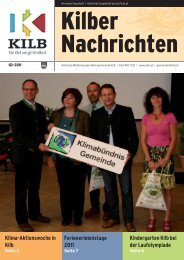 Klima-Aktionswoche in Kilb Kindergarten Kilb bei ... - Gemeinde Kilb