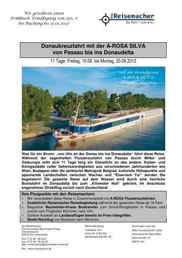 Donaukreuzfahrt mit der A-ROSA SILVA von Passau bis ins ...