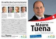 Ich schaue hin, wo andere wegschauen!» 2x - Mauro Tuena - SVP ...