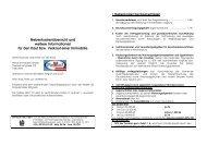 Nebenkostenübersicht und weitere Informationen für den Kauf bzw ...