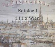 Katalog I 111 x Wien - Antiquariat Clemens Paulusch GmbH