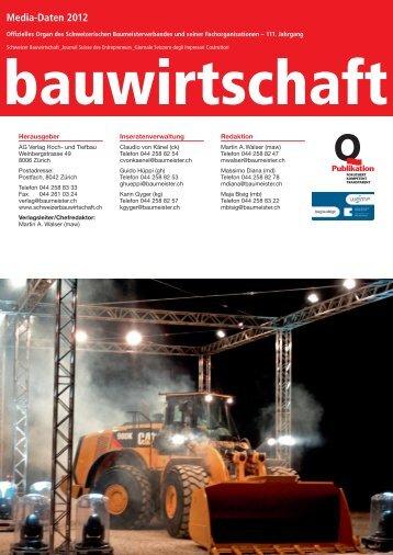 Media-Daten 2012 - Schweizer Bauwirtschaft